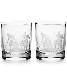 Ralph Lauren Garrett Double Old-Fashioned Glass, Set of 2