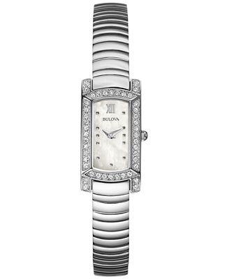 Bulova Women's Stainless Steel Bracelet Watch 18x15mm 96L207 - A Macy's Exclusive