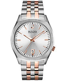 Bulova Accutron II Men's Surveyor Two-Tone Stainless Steel Bracelet Watch 41mm 98B220