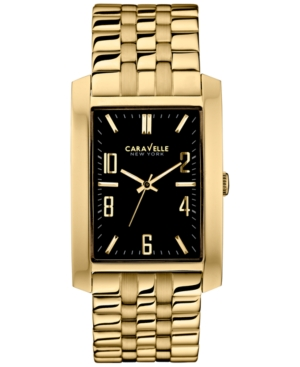 Caravelle New York by Bulova Men's Gold-Tone Stainless Steel Bracelet Watch 44x30mm 44A103