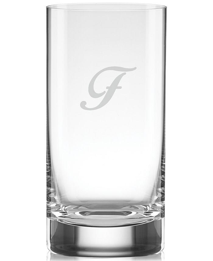 Lenox - Monogrammed Tuscany Stemware, Set of 4 Script Letter Highball Glasses