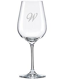 Lenox Tuscany Monogram Stemware, Set of 4 Script Letter Pinot Grigio Wine Glasses