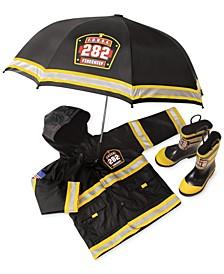 Boys' or Little Boys' or Toddler Boys' Fire Chief Rain Gear