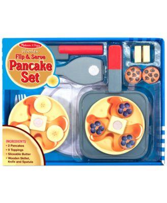 Kids' Wooden Flip & Serve Toy Pancake Set