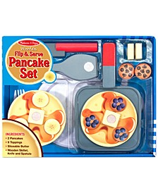 Kids' Wooden Flip & Serve Toy Pancake Set
