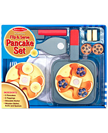 Melissa and Doug Kids' Wooden Flip & Serve Toy Pancake Set