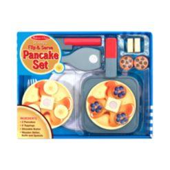 Melissa and Doug Kids' Wooden Flip & Serve Toy Pancake Set