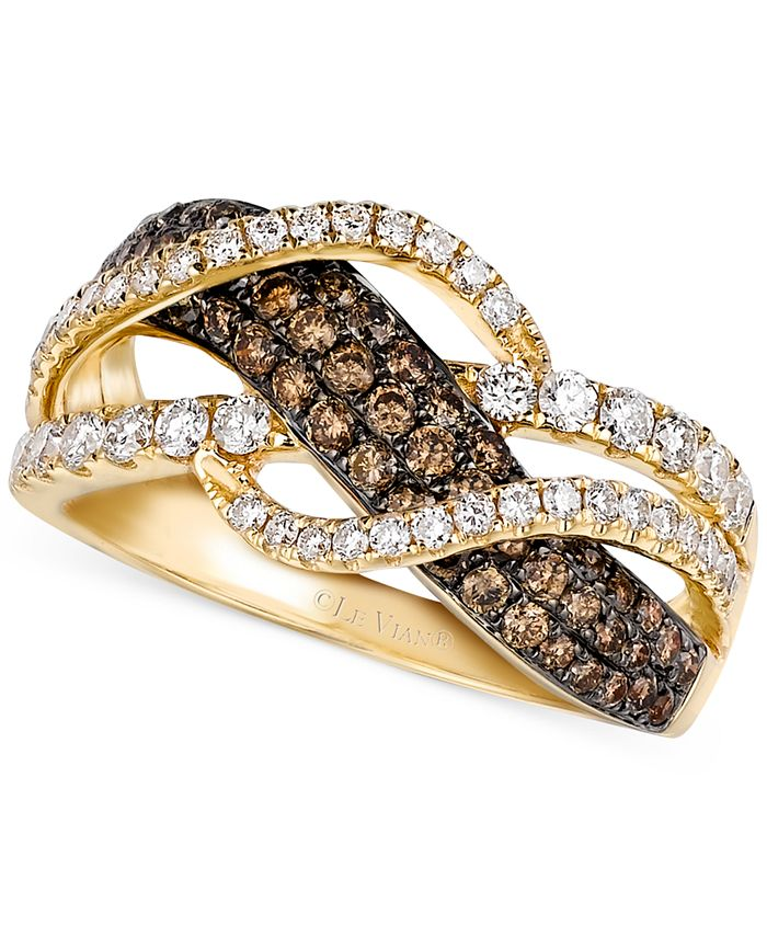 Le Vian - Chocolate and White Diamond Woven Ring in 14k Gold (1 ct. t.w.)