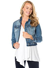 Jessica Simpson Maternity Cropped Denim Jacket