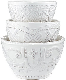 Maison Versailles Blanc Set of 3 Nesting Bowls