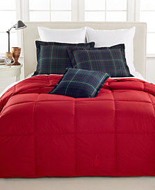 Lauren Ralph Lauren Color Down Alternative Twin/Twin XL Comforter, 100% Cotton Cover