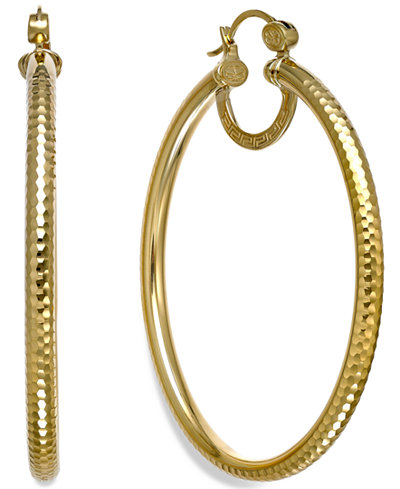 sis by simone i smith textured large hoop earrings in 18k