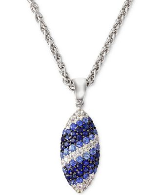 Balissima by EFFY Sapphire Marquise Pendant Necklace in Sterling Silver (2-1/2 ct. t.w.)