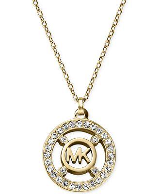 Michael kors crystal logo pendant necklace a macys exclusive michael kors crystal logo pendant necklace a macys exclusive mozeypictures Image collections