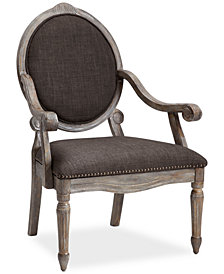 Rosalyn Fabric Oval Back Accent Chair, Quick Ship