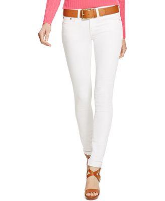 Polo Ralph Lauren Tompkins White Wash Skinny Jeans - Jeans - Women