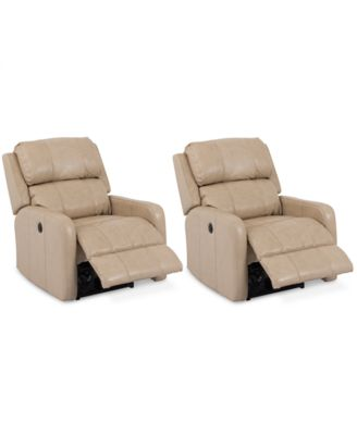 Colton Leather Power Recliner Chairs Set of 2  sc 1 st  Macyu0027s : leather power recliner chair - islam-shia.org