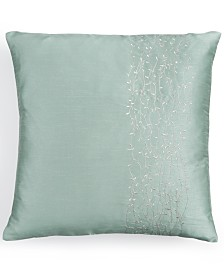 "Calvin Klein 18"" Square Metal Branches Decorative Pillow"