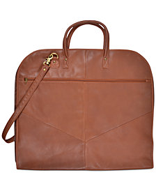 Royce Garment Bag Suitcase in Genuine Leather