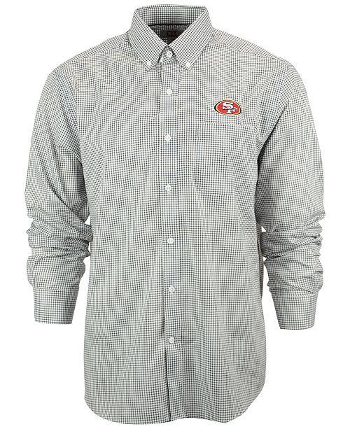 Cutter   Buck Men s San Francisco 49ers Tattersall Dress Shirt ... 579ff53b0
