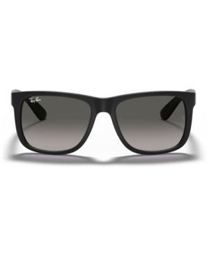 0bc96d31ba Ray Ban  Justin Classic  54Mm Sunglasses - Black Rubber  Grey Gradient In  Black
