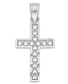 Cross Charm in 14k White Gold