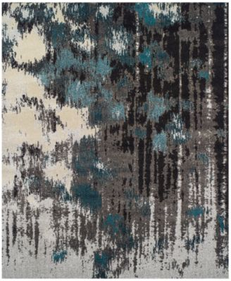 "Neo Grey Crusade Teal 5'3"" x 7'7"" Area Rug"