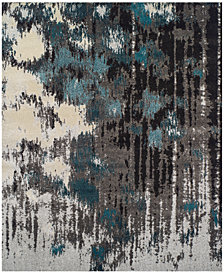 Neo Grey Crusade Teal Area Rugs