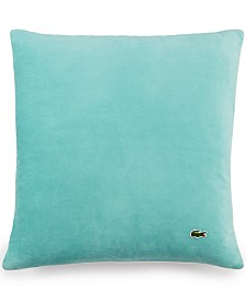"Lacoste Home Velvet Brushed Twill 18"" Square Decorative Pillow"