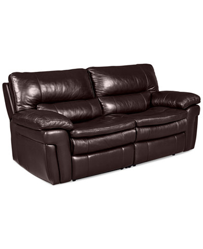 Xander leather 2 piece sectional sofa with 2 power for Macy s reclining sectional sofa