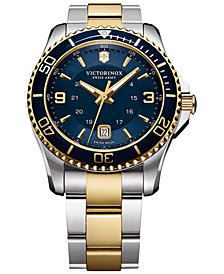 Victorinox Swiss Army Men's Maverick GS Two-Tone Stainless Steel Bracelet Watch 43mm 249079