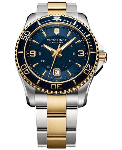 Victorinox Swiss Army Men's Maverick GS Two-Tone Stainless Steel Bracelet Watch 43mm 249079