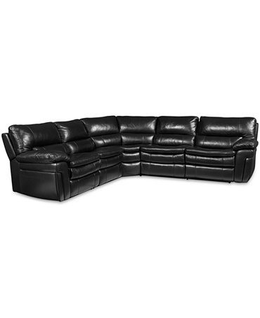Xander leather 5 piece l shaped sectional sofa with 3 for Xander sectional sofa
