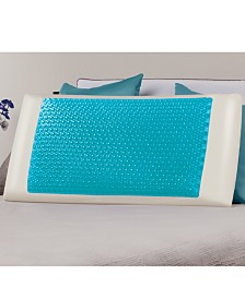 Comfort Revolution Cool Comfort Hydraluxe King Pillow, Gel & Custom Contour Open Cell Memory Foam