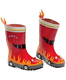 Little Boys' Fireman Rain Boots