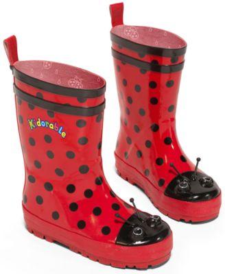 Girls' Ladybug Rain Boots