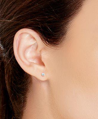 X3 Certified Diamond Stud Earrings In 18k White Gold 1 Ct T W