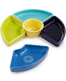 Fiesta Mixed Cool Colors 5-Piece Entertaining Set