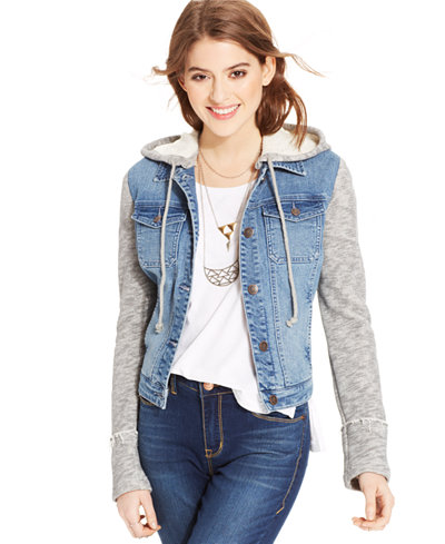 American Rag Terry Denim Jacket, Only at Macy's - Juniors Jackets ...