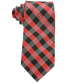 Eagles Wings New Jersey Devils Checked Tie