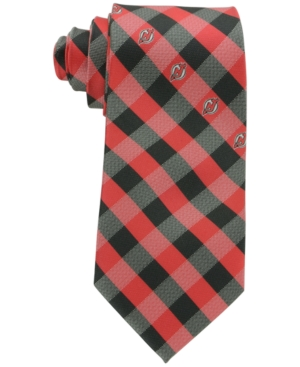 New Jersey Devils Checked Tie