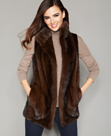 The Fur Vault Stand-Collar Mink Fur Vest
