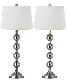 Safavieh Set of 2 Stacked Gazing Ball Table Lamps
