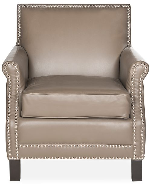 Remarkable Benson Faux Leather Accent Chair Quick Ship Creativecarmelina Interior Chair Design Creativecarmelinacom