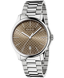 Gucci Unisex Swiss G-Timeless Stainless Steel Bracelet Watch 40mm YA126317