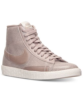 Nike Women's Blazer Mid Leather Premium Casual Sneakers from Finish Line