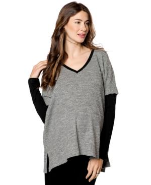 Drew Maternity Drop-Shoulder Textured Sweater plus size,  plus size fashion plus size appare
