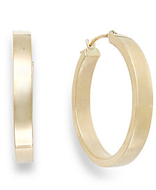 Bold Hoop Earrings in 10k Gold, 25mm