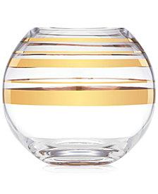 kate spade new york Hampton Street Gold Striped Rose Bowl Vase