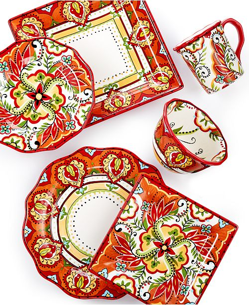 Espana Bocca Red Dinnerware Collection